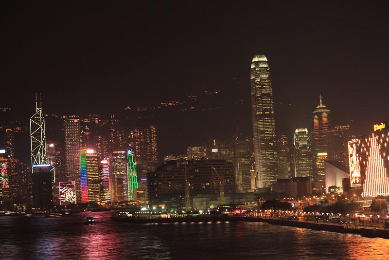 Tsim Sha Tsui Prominade looking over Hong Kong Island