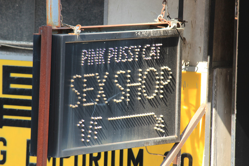 Seedy Sex Shop Sign, Kowloon, Hong Kong