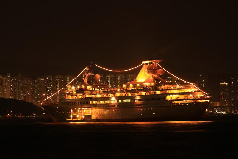Cruise Ship docked in Kowloon Bay, Hong Kong