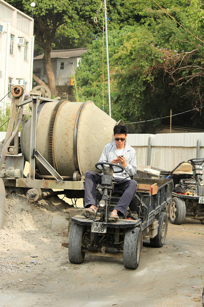 Concrete Mixer and Truck on Lamma Island, Hong Kong
