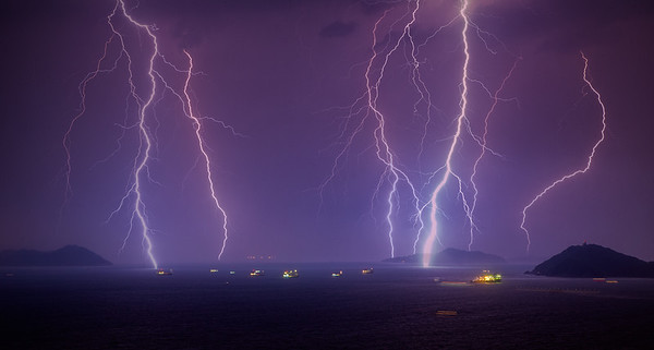 Lightning over Lantau Island