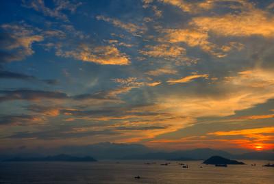Sunset over Lantau Island