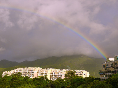 Rainbows do happen in HK