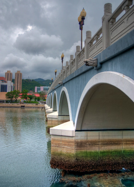 Bridge over the Shing Mun River in the Sha Tin District.