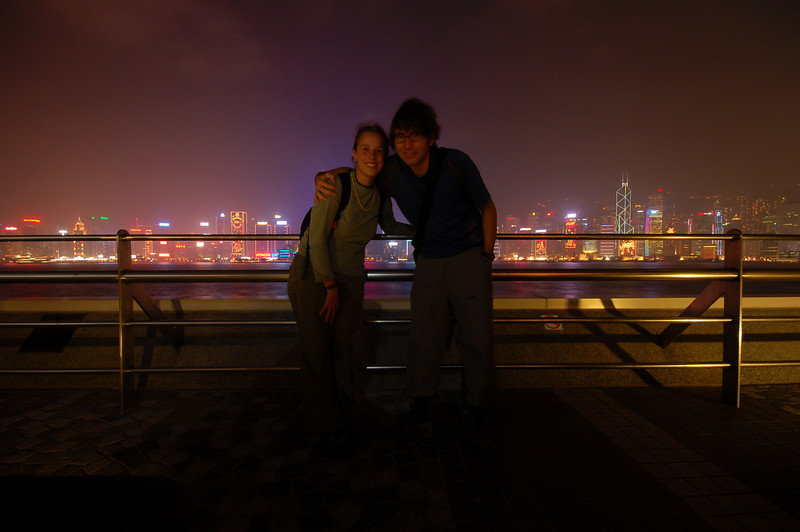 Emilie and Yann in Kowloon.