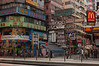 Busy signage in Kowloon's Tsim Sha Tsui district.