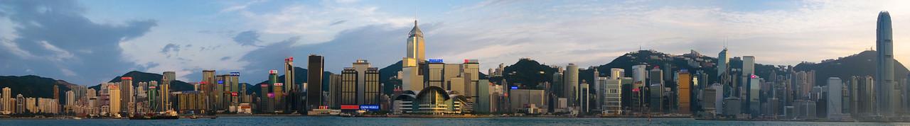 Hong Kong skyline panorama