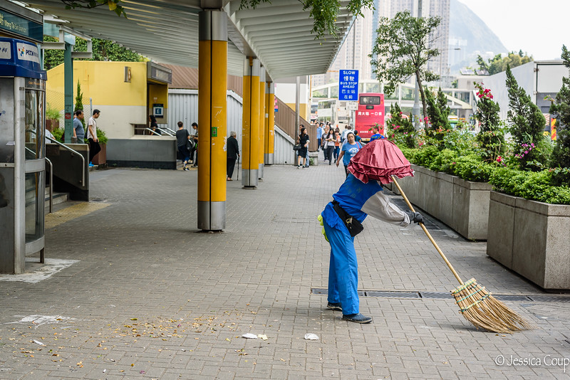 Sweeping the Sidewalk