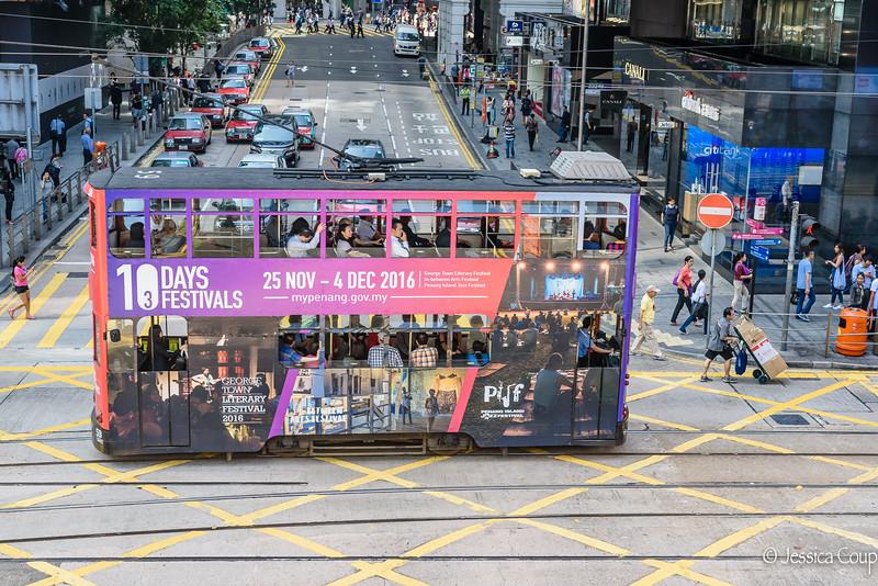 Street Cars on Hong Kong Island