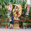 Leaving an Offering at Wong Tai Sin Temple