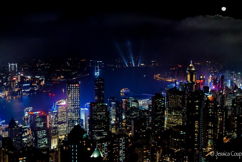 Looking Down on Hong Kong Island