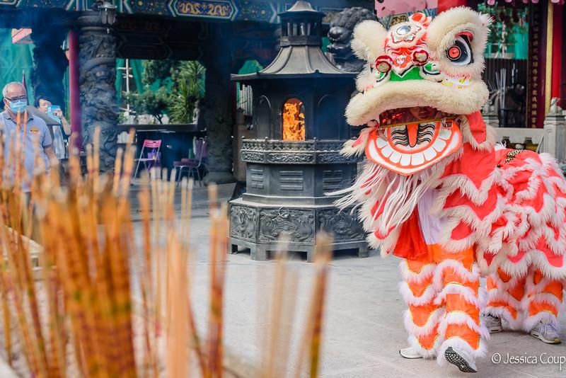Dragon Dance at Wong Tai Sin Temple