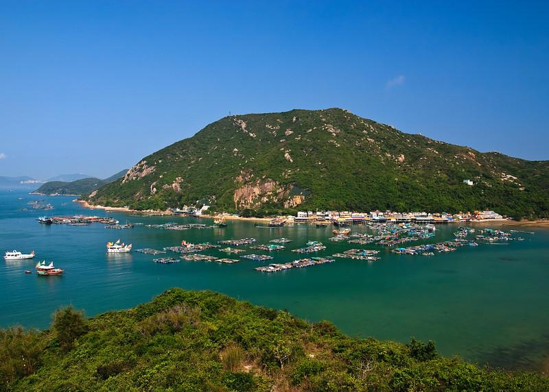 View of the boats at Suk Kwu Wan