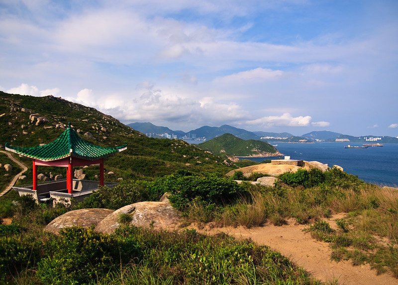 From the top of the mountains on the Southern part of Lamma Island