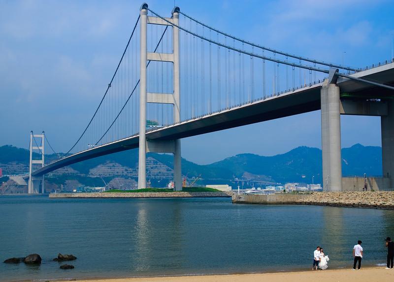 Bridge connecting Ma Wan to Tsing Yi Island.