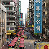 Taken from the elevated walkway overlooking many of the streets in Mong Kok.