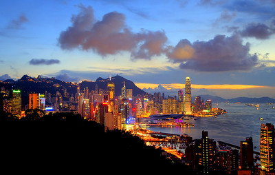 On a clear night, Hong Kong offers the best view.
