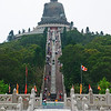 The stairs to the Tian Tan Buddha