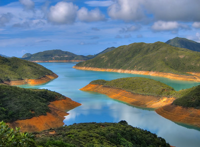 High Island Reservoir as seen from Sai Wan Pavilion, Sai Kung, Hong Kong