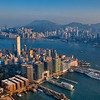 Bird's eye view of Hong Kong, from Sky100, ICC