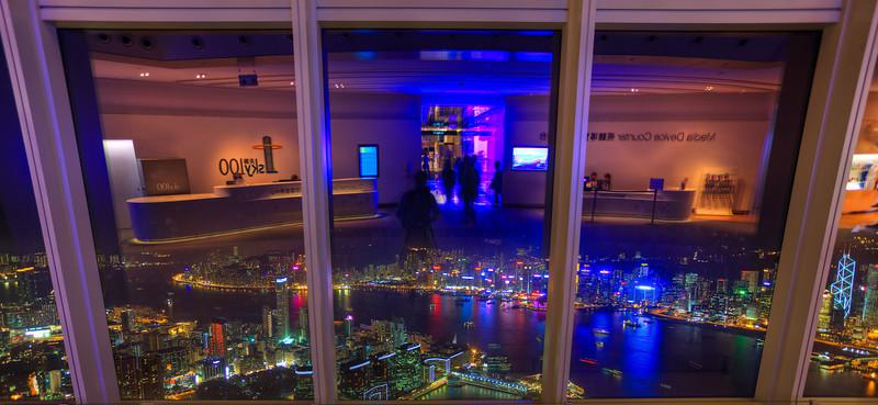 Sky100, at night, Hong Kong