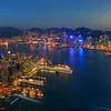 Hong Kong at dusk, from Sky100