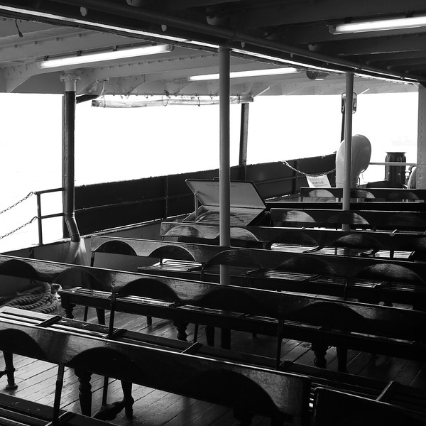 Wooden Seats on the Star ferry.