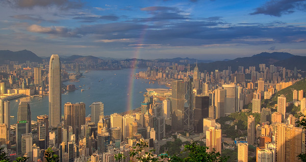 Sunset over Victoria Peak