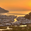 Sunset over Tai O Fishing Village, Lantau Island, Hong Kong