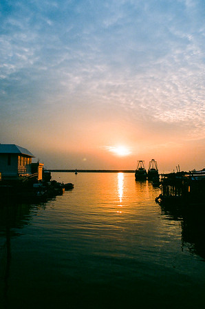 夕陽在大澳 sunset in Tai O