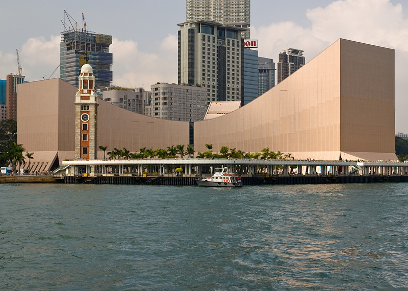 The Hong Kong Cultural Center and KCR Clock Tower.