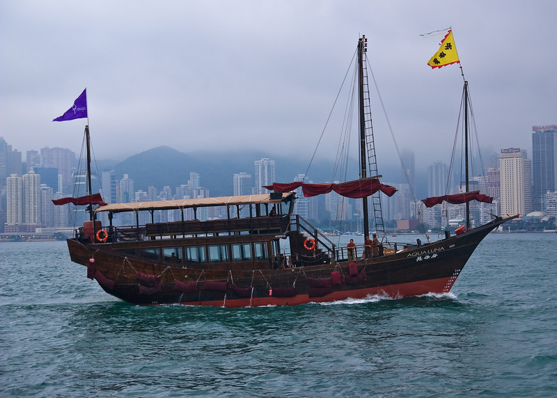Boat in Victoria Harbor