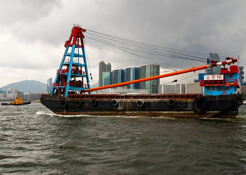Boats in Victoria Harbor
