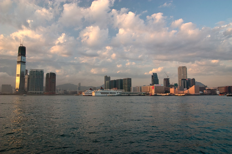View of the Kowloon Peninsula taken the Wan Chai Waterfront Promenade.