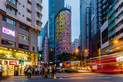 """Flatiron Building"" of Hong Kong in Wan Chai"
