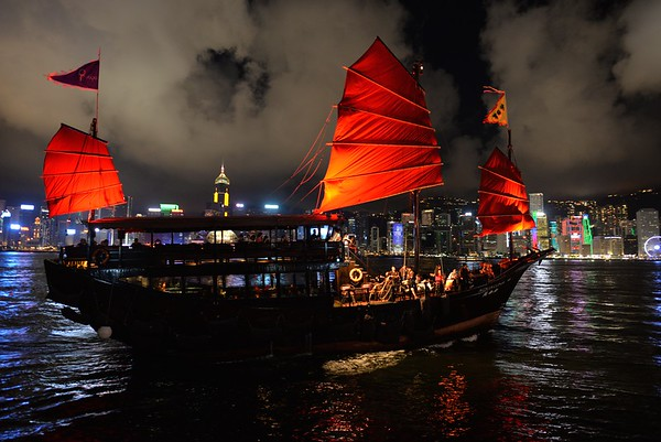 Chinese Junk in Hong Kong