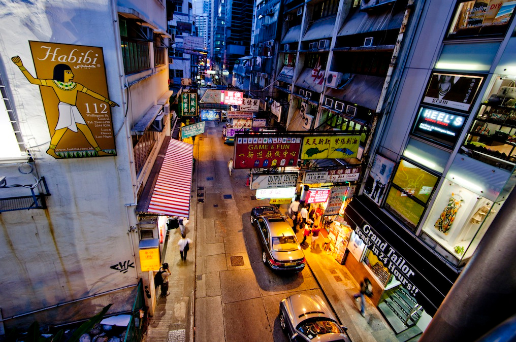 Hollywood Road from above, Hong Kong Island 2012