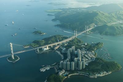 Tsing Ma Bridge and Ma Wan