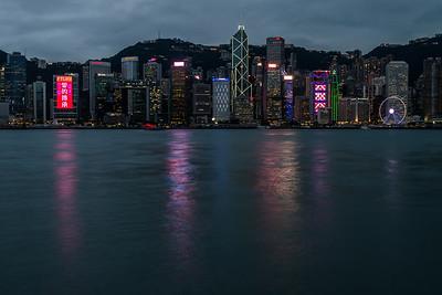 Hong Kong Island skyline at twilight