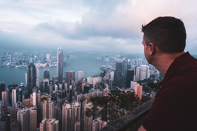 View of Hong Kong skyline from The Peak.