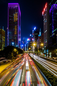 Hong Kong's city lights in Wan Chai