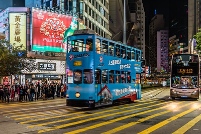 Double-deck tramcar in Hong Kong