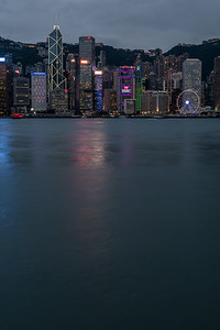 Hong Kong Island skyline at twilight