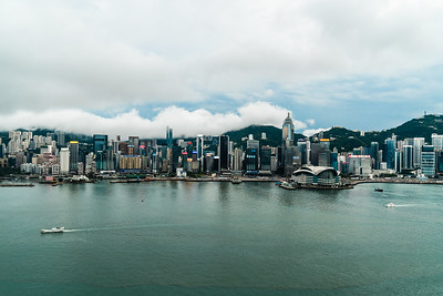 View of Hong Kong Island skyline.
