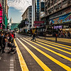 Nathan Road crossing in Hong Kong.