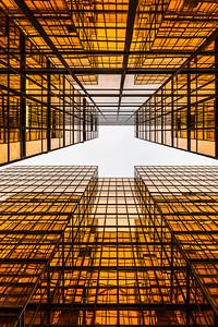 Looking up China Hong Kong City Buildings in Tsim Sha Tsui .