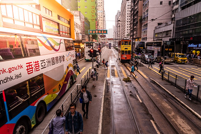 Streets in Hong Kong