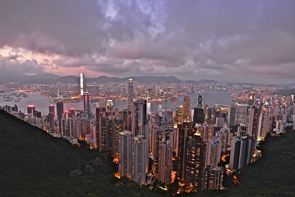 Hong Kong & Kowloon from Victoria Peak