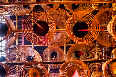 Incense coils at Man Mo Temple