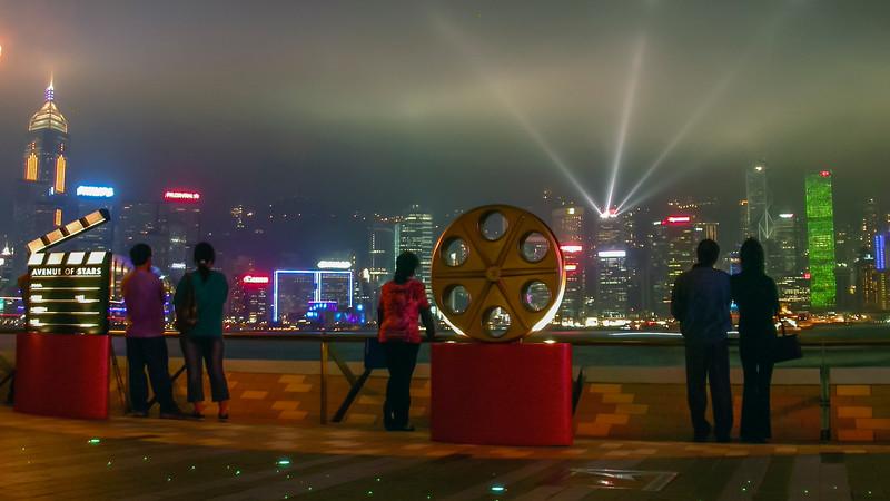 Hong Kong at night 2004